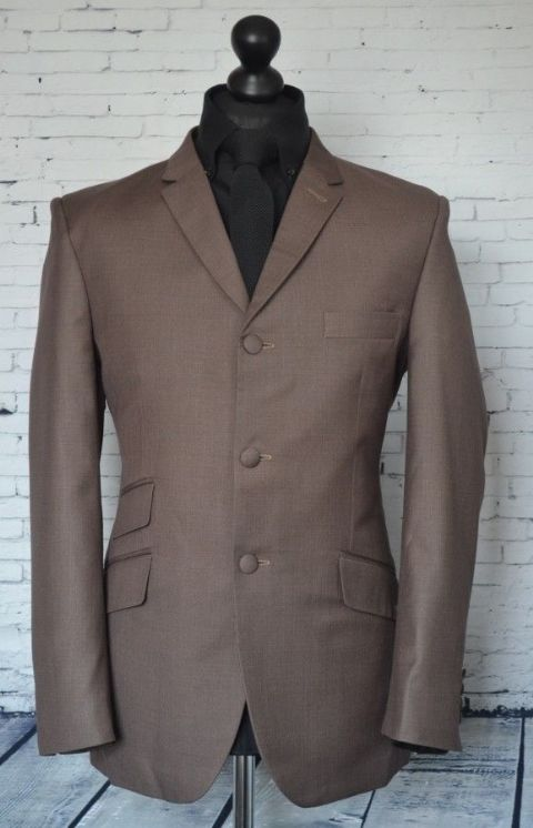 """Dobbs"" Brown 3 Button Suit"